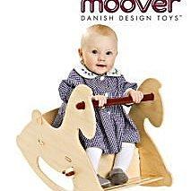 丹麥Moover寶寶精品木玩 經典靠背小木馬(原木色) 北歐設計,溫潤工藝美學,玩具大賞推薦
