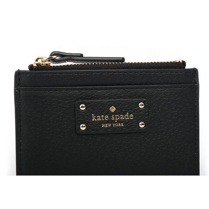 JR名牌精品 Kate Spade 皮革 零錢包 卡夾 小皮夾 藕粉色 黑色
