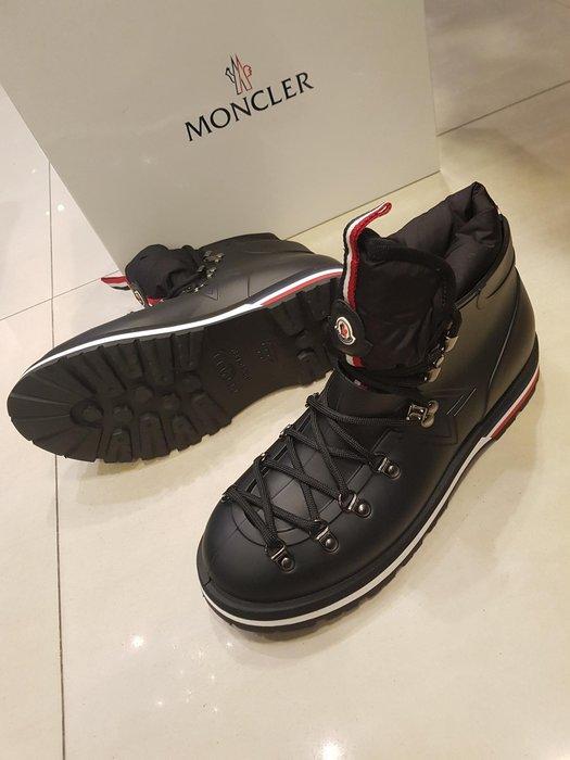 【EZ兔購】~正品 法國頂級 MONCLER  鞋 靴子 可拆卸的羽絨襯裡~現貨 UK 8