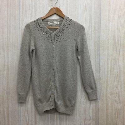 【愛莎&嵐】ZARA 女 灰色針織混毛外套 / M (全新) 1071025