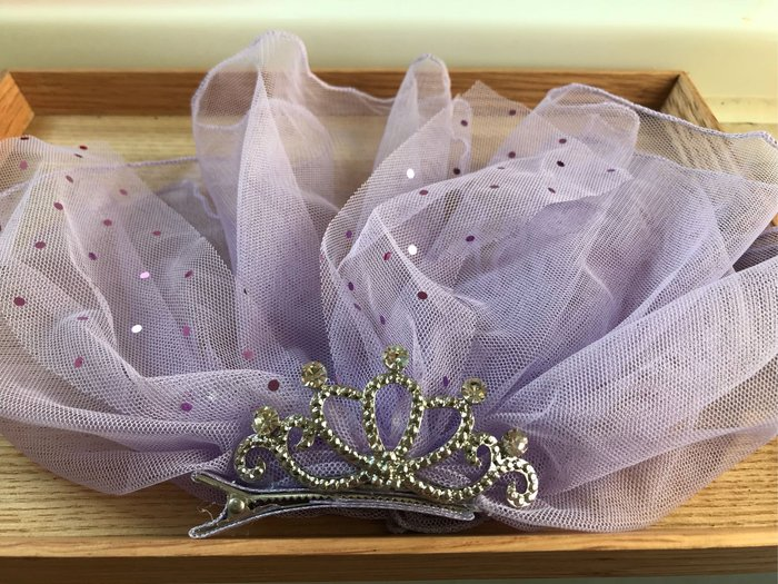 粉紫公主髪飾