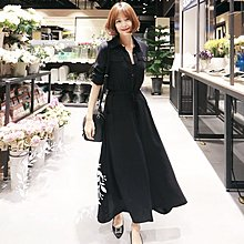 【ZEU'S】韓國早秋新款顯瘦休閒襯衫長版洋裝『 08318201 』【現+預】HB
