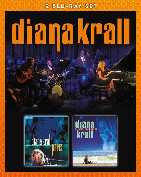 正版藍光2BD《戴安娜克瑞兒》/Diana Krall - Live in Paris & Live in Rio全新未