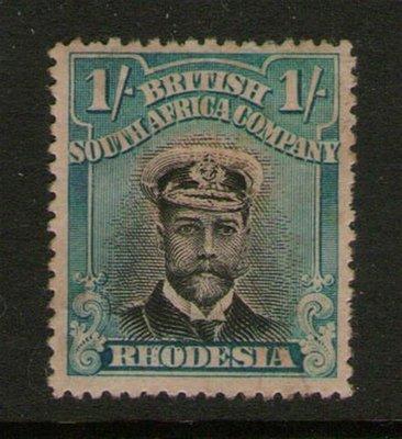 【雲品】羅得西亞Rhodesia 1913 KGV SG 248 MH 庫號#66820