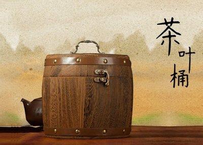 茶具[明海園] 梧桐木茶筒 收藏盒 復古鼓型茶筒 一斤(500g)裝