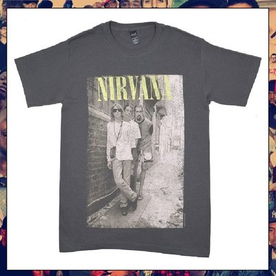 【三分之二】NIRVANA Brick Wall Alley Photo  //復古潮流/Tee