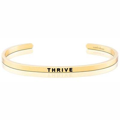 MANTRABAND THRIVE 滋養成長茁壯 發揮無限潛能 金色手環