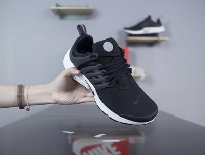 D-BOX NIKE AIR PRESTO ESSENTIAL 黑 白 網面 休閑慢跑鞋 魚骨鞋 男鞋