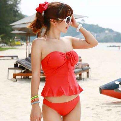胸前綁繩多way兩件式小可愛泳衣【O2239】春吶海邊必備可搭配隱形胸罩☆雙兒網☆