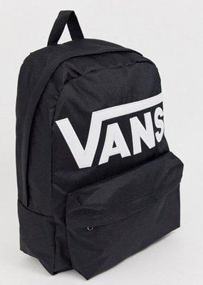 「i」【現貨】Vans Old Skool III Backpack 暗黑/白字 大logo 休閒 後背包 書包