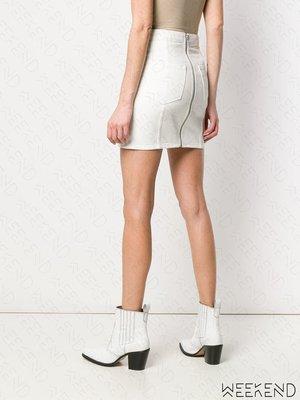 【WEEKEND】 ADAPTATION 背後拉鍊 特殊剪裁 短裙 窄裙 迷你裙 白色
