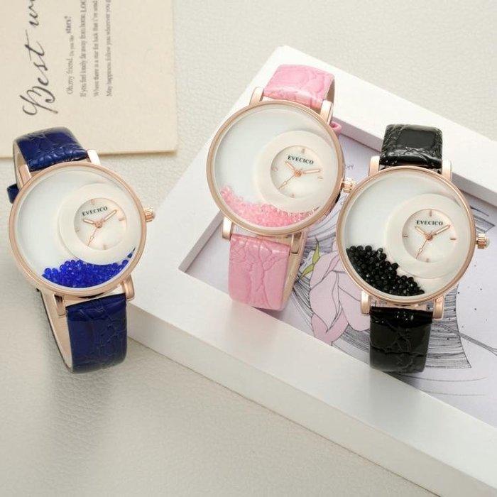 新款白領上班簡約指針皮帶女錶防水潮流學生女士生日禮物手錶
