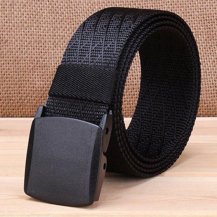 ZK2051BK塑鋼扣頭尼龍腰帶黑色(腰圍20吋-40吋適用)