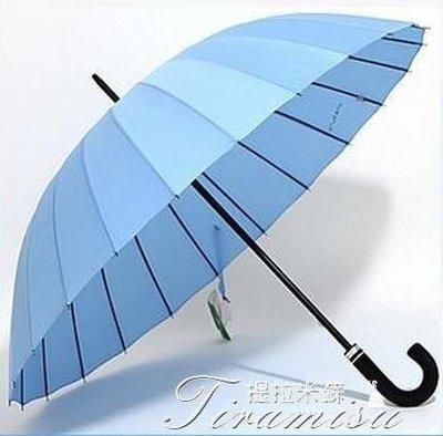 ZIHOPE 24骨遇水開花雨傘創意女雙人直柄傘長桿男個性超大號晴雨兩用彎柄ZI812