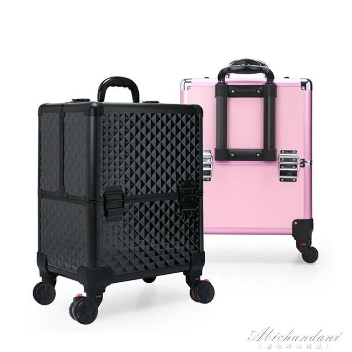 專業拉桿化妝箱大容量紋繡半永久化妝師跟妝美甲工具箱多層萬向輪