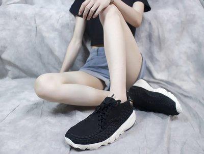 D-BOX Nike Air Footscape Woven 黑色 白 個性編織 休閑鞋 懶人鞋 男鞋