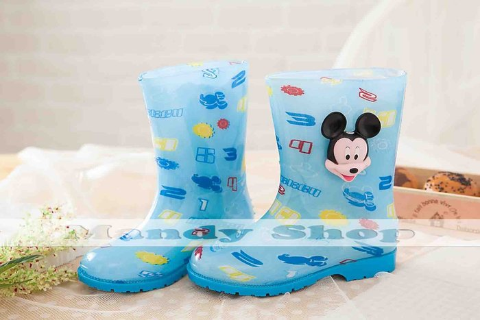 mandyshop【M2847】㊣ Disney迪士尼米奇立體兒童雨鞋