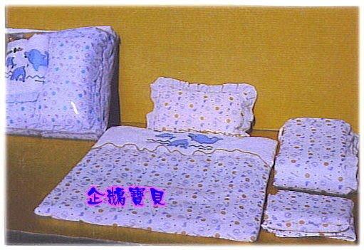 @企鵝寶貝二館@ 小海豚四件式床組.適用各種搖籃.迷你小床專用*台灣製造*