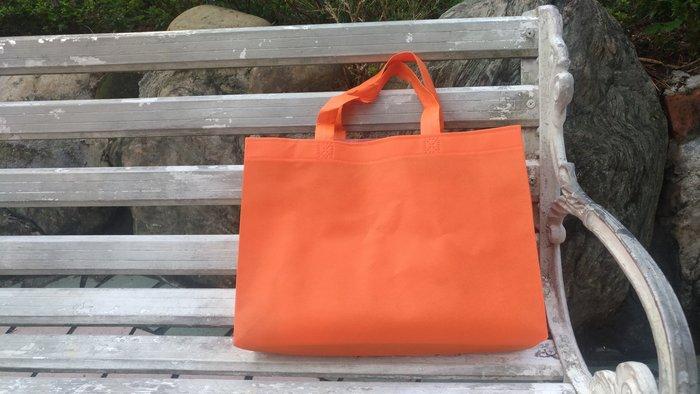 現貨新款橘 不織布袋 每個7元滿1000免運 精美紙袋 購物袋 服飾袋 手提袋35*10*25cm每包50個350元