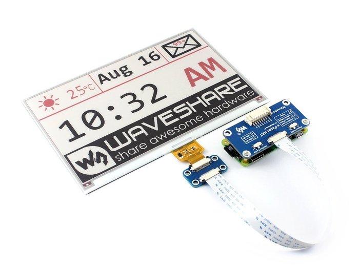 【莓亞科技】樹莓派電子紙 ePaper/eInk( 7.5吋, 3色, 紅黑白)(含稅現貨NT$2180)