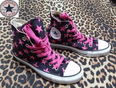 公司貨 Converse 高筒帆布鞋 ALL STAR  專櫃正品- 女款 星星 百搭  -7號【J&K嚴選】LV