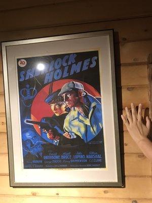 售1939年福爾摩斯法文電影原版海報(含金屬色框,不含運費)