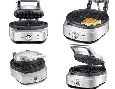 澳洲Breville 鉑富 BWM520XL Classic Waffle 鬆餅機 (約烤出3cm厚度的鬆餅) 不沾鑄鐵