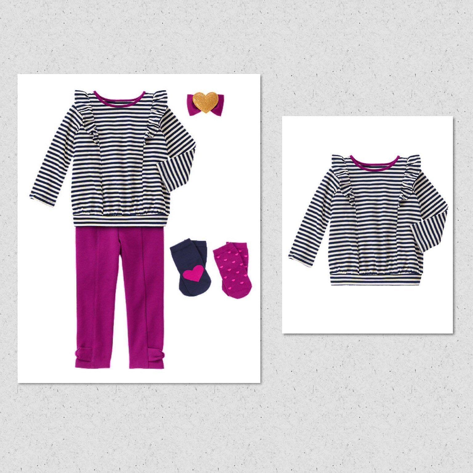 美國GYMBOREE正品新品Striped Ruffled Top條紋荷葉邊長袖上衣18~24m 2T.3T.4T.5T