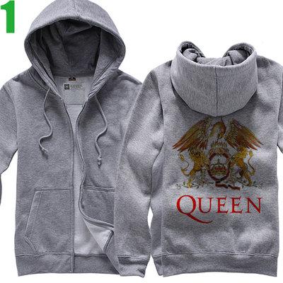 QUEEN【皇后合唱團】連帽厚絨長袖搖滾樂團外套 新款上市購買多件多優惠!【賣場一】