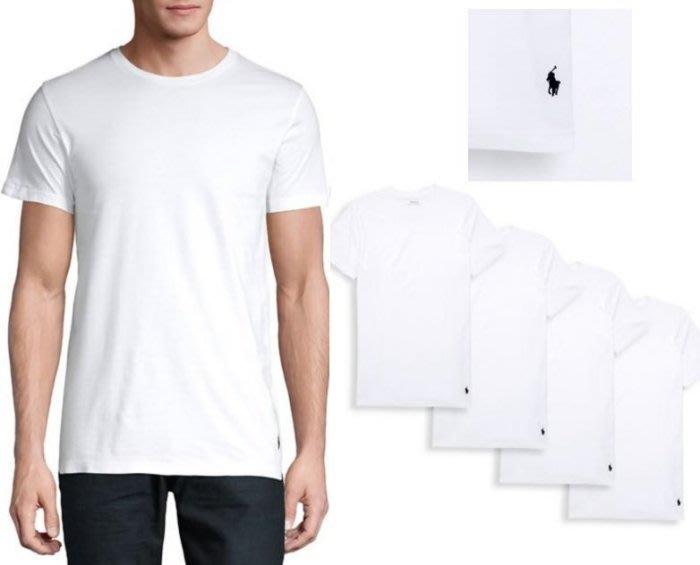 POLO Ralph Lauren 小馬 短袖 內衣 T恤 4件組 大人 白色 素T