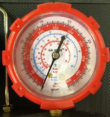 冷氣 空調冷氣錶壓力錶 冷媒雙錶 R134a(含高壓管*3)