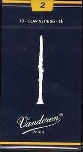 【六絃樂器】全新法國 Vandoren Clarinet 豎笛竹片 / 密封防潮 藍盒包裝