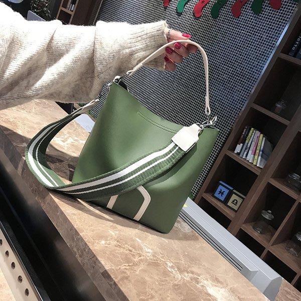 包包女新款女包水桶包潮韓版簡約百搭斜挎包手提包單肩包大包 一木良品