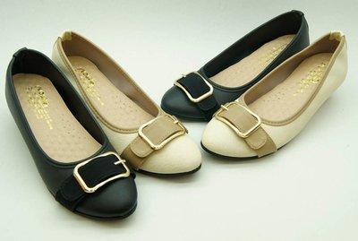 好望角鞋屋  楔形底娃娃鞋(5691)08顏色:黑,米尺寸:23~25