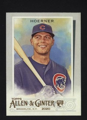 2020 Topps Allen and Ginter #199 Nico Hoerner - Chicago Cubs RC