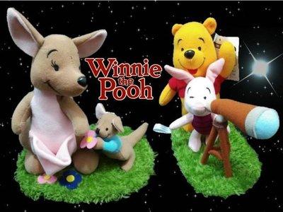 藍河馬x DISNEY 全新 日本進口 Winnie the Pooh 小熊維尼 小豬霹靂 毛絨玩具 公仔玩偶  共兩件
