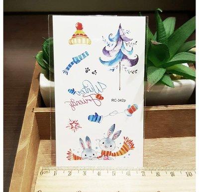 【萌古屋】聖誕節RC-342 - 男女防水紋身貼紙刺青貼紙 K29