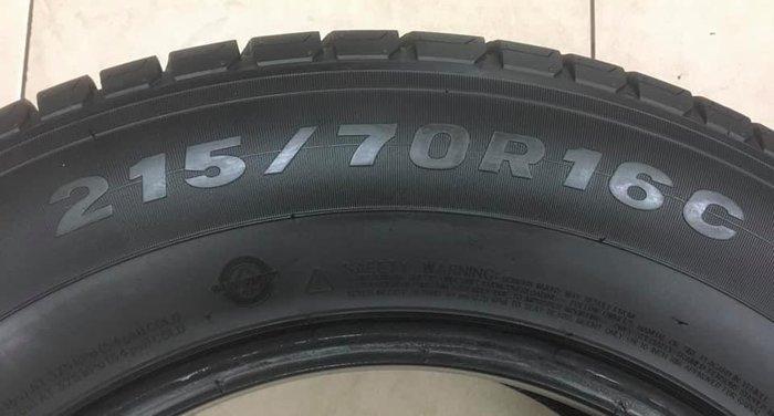 【優質輪胎】瑪吉斯MCV5載重胎_215/70/16C_單條20年九成九新(胎紋約7.6mm_215-70-16)三重區