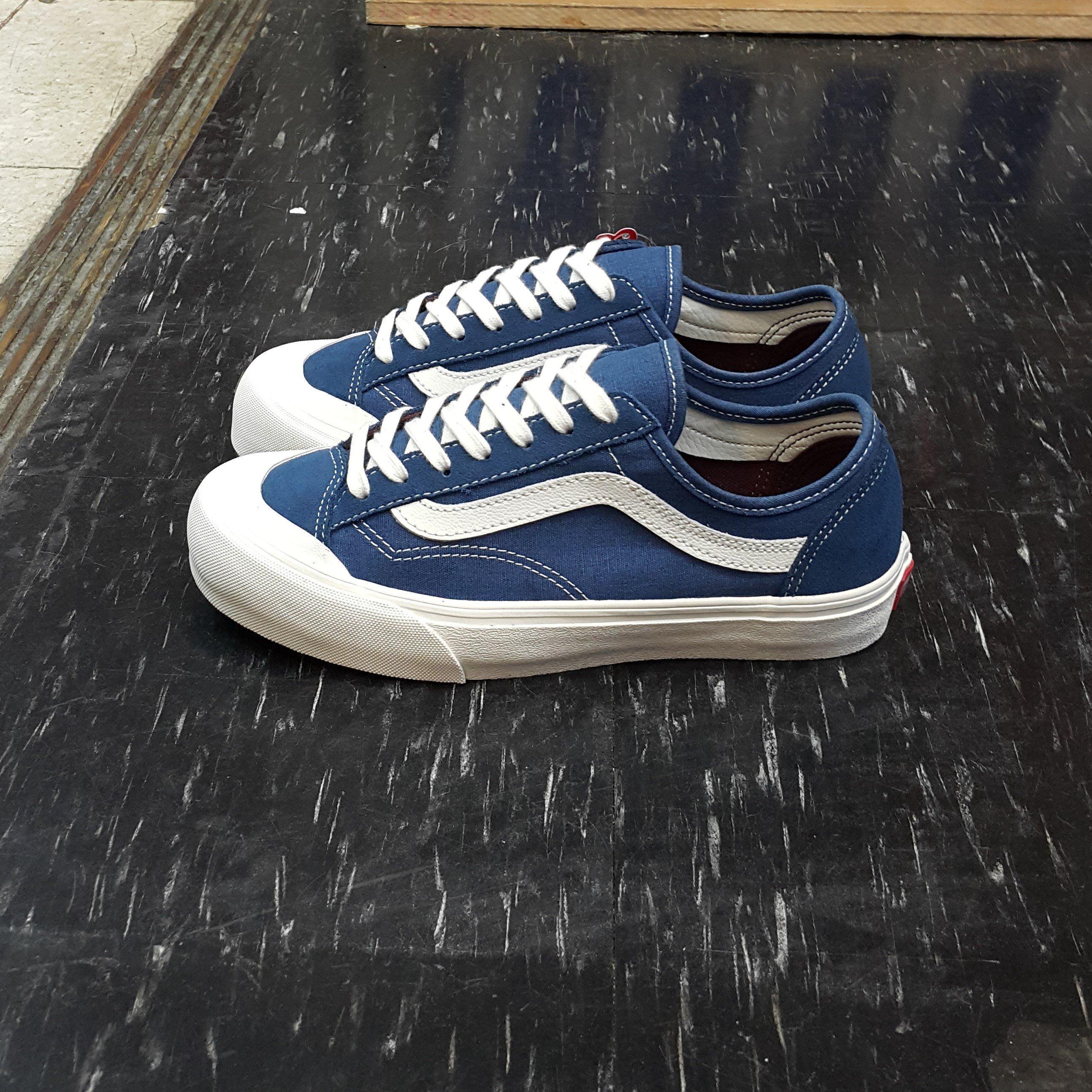 205cdd43a97a15 VANS Style 36 Decon SF Dark Denim 藍色麂皮帆布單寧ULTRACUCH鞋墊