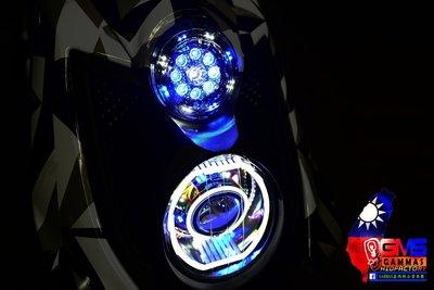 GAMMAS HID 台中廠 三葉YAMAHA BWS'X 大B 鐵男-9晶LED滿天星 光圈   鋼鐵人 小燈01