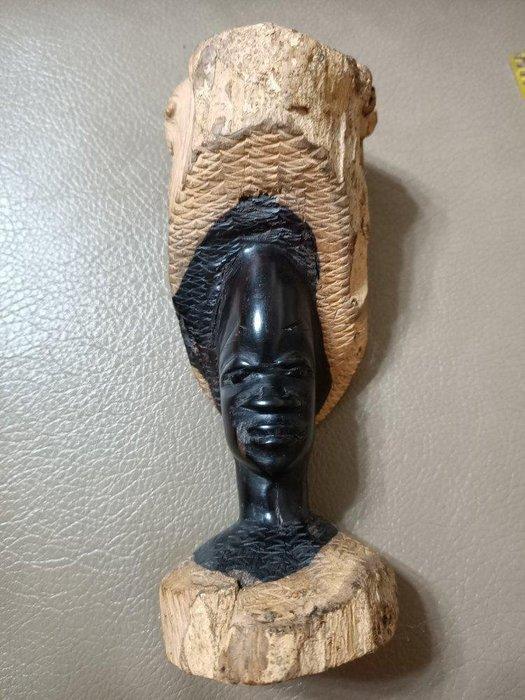 非洲黑木巧雕 黑人 原住民收藏 人像 禮品擺飾擺件