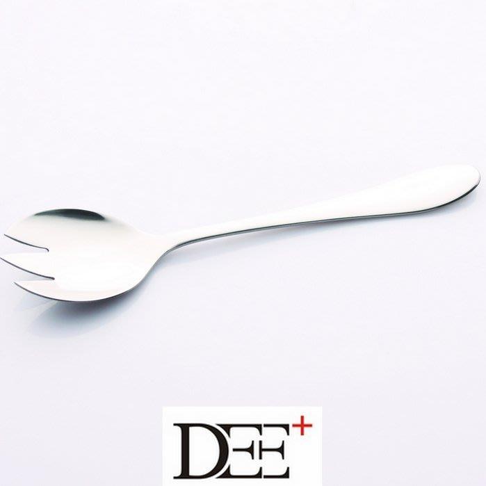 ☜男神閣☞加厚沙律叉勺沙拉叉勺不銹鋼叉勺壹體兩用水果叉子沙拉西瓜勺創意