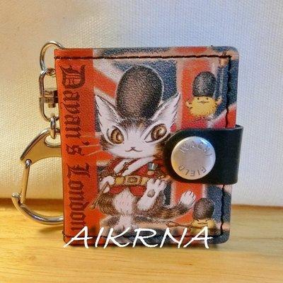wachifield-dayan(瓦奇菲爾德,達洋)~全新非賣品貓咪真皮相片鑰匙圈~倫敦小貓