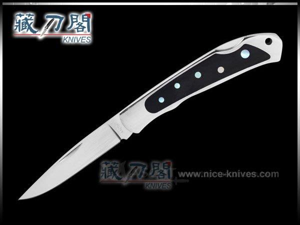 《藏刀閣》MOKI-米卡達鑲崁綠海蝸牛折刀