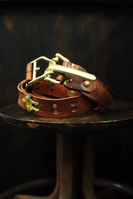 [ Satisfaction ] {DEUCE&CO.} 35mm寬黃銅芯馬具快拆釦壓皺belts