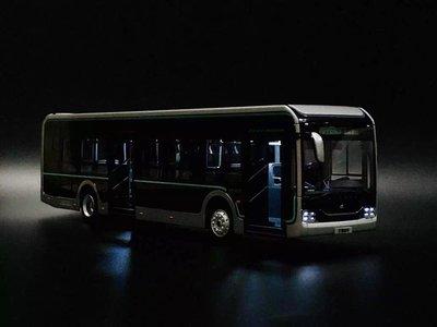 1:42 宇通客車模型 U12 黑金剛模型 上海公交純電動巴士合金車模