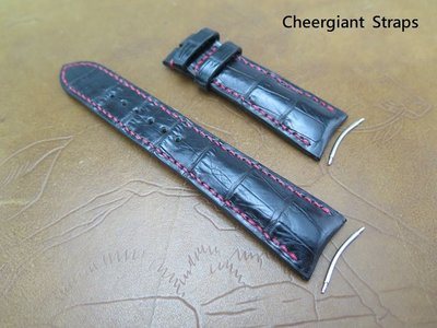 寶璣type XXII 鱷魚錶帶Breguet type XXII curved lug end croco strap