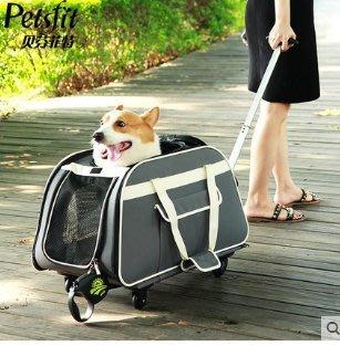【興達生活】petsfit寵物拉桿箱包狗狗外出便攜包狗包車載籠狗背包貓包寵物包`29686