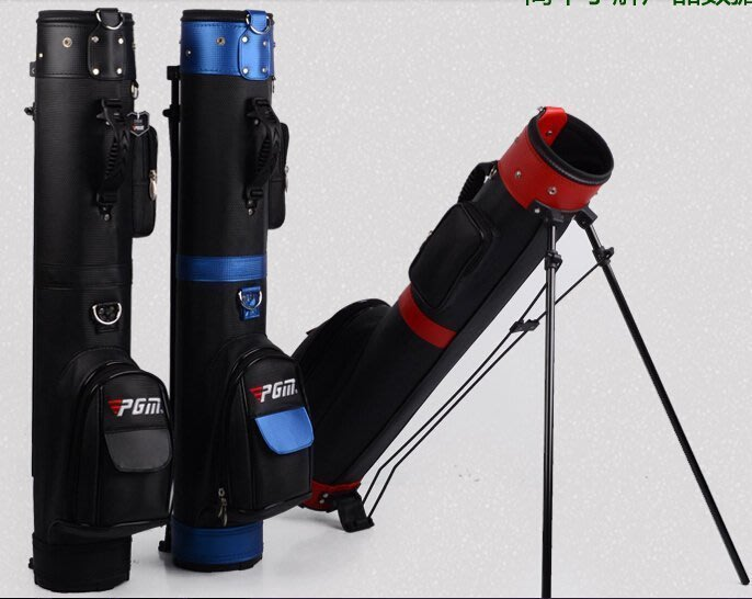 【易發生活館】新款!PGM 高爾夫球包 帶支架 槍包 男女6個顏色 可裝9支球桿 PGM高級PU支架槍包攜帶方便可支架放置大容量