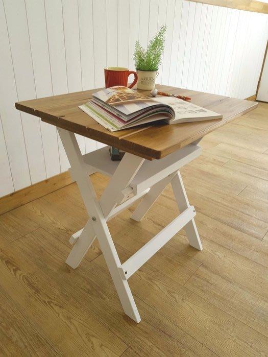 餐桌 桌子 茶几,松木桌,野餐桌,沙發邊桌,輕便小茶几,可收起**樂在幸福**木作坊~A159 可摺疊收起~超級特價~促